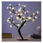 ÁRBOL DECORATIVO CON FLORES (48 LED)