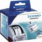 DYMO REMOVABLE WHITE NAME BADGE LABELS, NEGRO, COLOR BLANCO, PAPEL, BÉLGICA, CAJA
