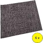LOTE 6 MANTELES INDIVIDUALES GRIS OSCURO 30X45CM