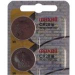 MAXELL CR2016, LITIO, BUTTON/COIN, 3V