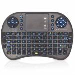 MINI TECLADO INALAMBRICO WIRELESS RETROILUMINADO PHOENIX TOUCHPAD MULTIMEDIA BACKLIT EN COLOR AZUL COLOR  NEGRO