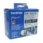 PAPEL CONTINUO PARA IMPRESORAS BROTHER DK22210 29 X 30,48 MM BLANCO