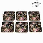 SET 6 POSAVASOS BLOOM BLACK - COLECCIóN KITCHENS DECO BY BRAVISSIMA KITCHEN