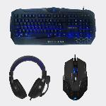TECLADO+RATON+MOUSEPAD BLUESTORK GAMING USB