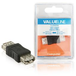ADAPTADOR USB 2.0 A HEMBRA - A HEMBRA EN COLOR NEGRO VALUELINE