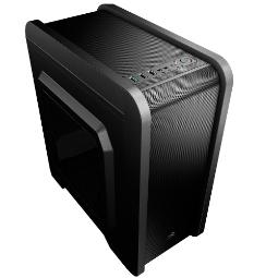 AEROCOOL QS240 BLACK MICRO-ATX USB3.0 WINDOW +12CM BACK FAN +USB CARD READER