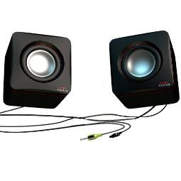 ALTAVOCES 2.0 MARS GAMING MAS0 8W RMS ULTRA BASS COLOR NEGRO Y PLATA