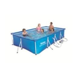 PISCINA TUBULAR RECTANGULAR BESTWAY  STEEL PRO 244X61CM 56424
