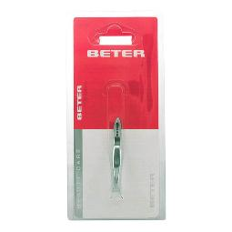 BETER - TWEEZERS WITH STRAIGHT TIP CHROME PLATED 5,5 CM 1 PZ
