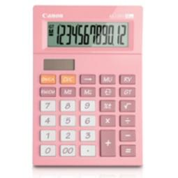 CANON AS-120V, ESCRITORIO, BATERÍA/SOLAR, BASIC CALCULATOR, ROSA, 72,8 X 22,3 MM, RM, CM, M+, M-