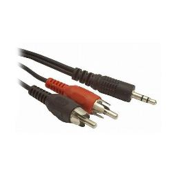 CABLE AUDIO JACK A 2 RCA GEMBIRD CCA-458 NEGRO (1,5 M)