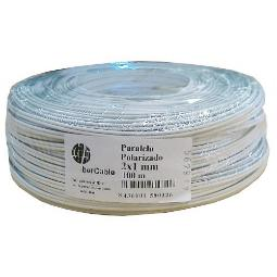 CABLE PARALELO 2X0.50 AUDIO BLANCO-GRIS IBERCABLE (ROLLO DE 100 MTS)
