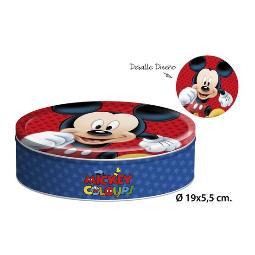 CAJA METAL REDONDA, DISNEY, -MICKEY-