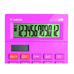 CANON CALCULADORA SOBREMESA AS-120 12 DIGITOS ROSA PILAS 5476B002AA