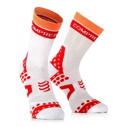 COMPRESSPORT SOCKS BIKE ULTRALIGHT BLANCO-ROJO