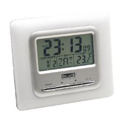 LCD ALARM CLOCK DIGITAL SILVER