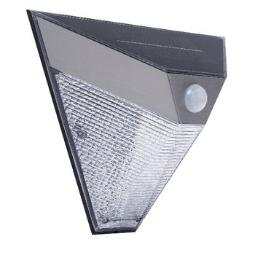 LUZ SOLAR DE PARED LED PLATA
