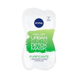 MASCARILLA FACIAL PEEL OFF URBAN SKIN DETOX NIVEA (5 ML X 2)