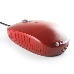 MOUSE NGS FLAME RED OPTICO CON CABLE
