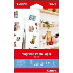 PAPEL CANON FOTO MG-101 3634C002 10X15/ 5 HOJAS
