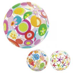 PELOTA HINCHABLE INTEX 61CM. MULTICOLOR 59050