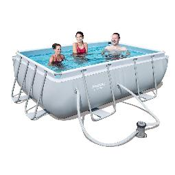PISCINA TUBULAR BESTWAY POWER STEEL CON DEPURADORA 282X196X84CM.