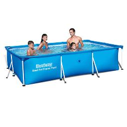 PISCINA TUBULAR RECTANGULAR BESTWAY 300X201X66 CM 56404