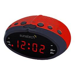 RADIO DESPERTADOR SUNSTECH FRD16RD ROJO