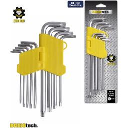 SET 9 LLAVES ALLEN TORX LARGA BRICOTECH