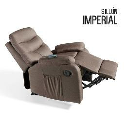 SILLóN DE MASAJE IMPERIAL MARRóN CHOCOLATE ECO-8500
