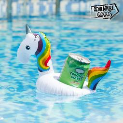 SOPORTE HINCHABLE PARA LATAS UNICORNIO ADVENTURE GOODS