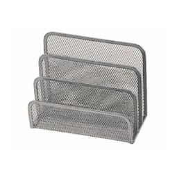 SOPORTE PARA CARTAS Q-CONNECT METALICO REJILLA GRIS 175X140X82 MM