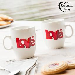 TAZAS LOVE ROMANTIC ITEMS (PACK DE 2)