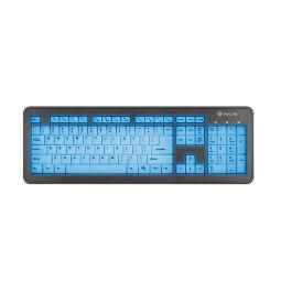 TECLADO SLIM NGS BLUE LAGOON - 12 TECLAS MULTIMEDIA - 3 NIVELES RETROILUMINACION - PLUG AND PLAY - CABLE USB 1.5M