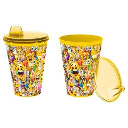 VASO VALUE PP 430ML CON SIPPER DE EMOJI (0/24)