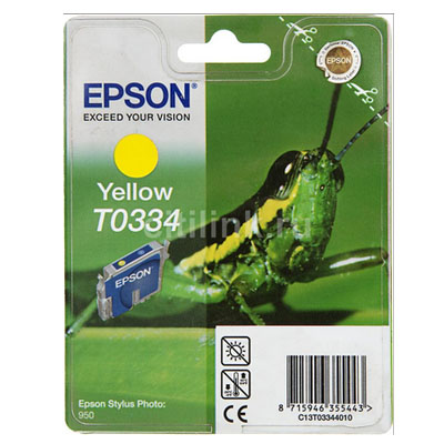 Cartucho Epson Photo 950 Yellow (c13t033440)