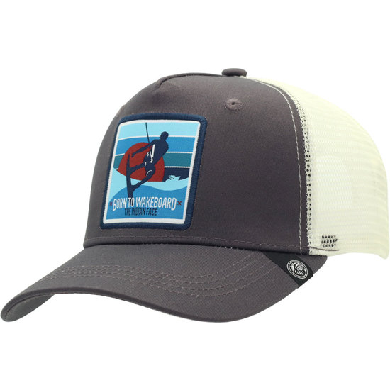Gorra The Indian Face Born To Wakeboard Gris Y Blanco U