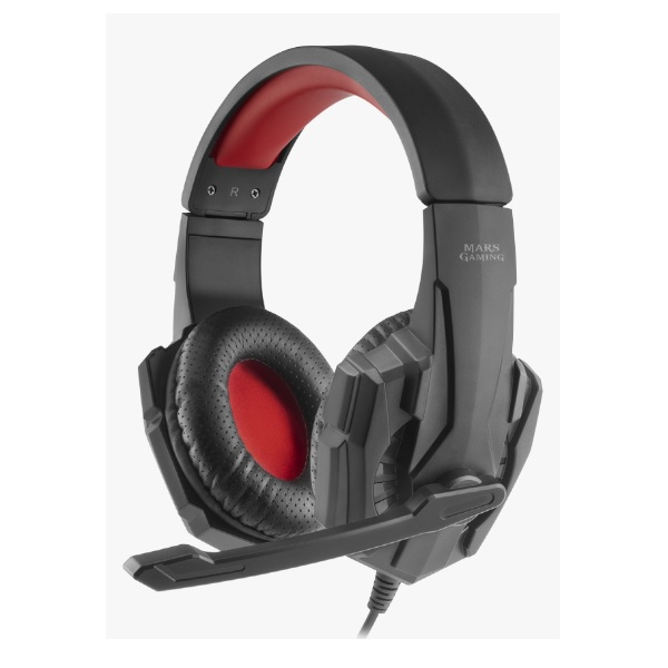 Headphone Mars Gaming Mh020 Jack 3.5mm Dual Y Unificado Microfono Abatible 40mm Neodimio Ultra-bass Compatible Ps4/xbox/switch