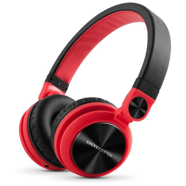 Headset Energy Sistem Dj2 Red Con Microfono , Cable Extraible 3.5mm Control Talk, Driver 40mm