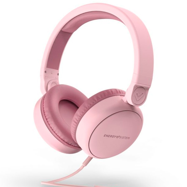 Headset Energy Sistem Style 1 Talk Pure Pink Almohadillas Extracomodas, Cable Jack 3.5mm Extraible, Audio-in