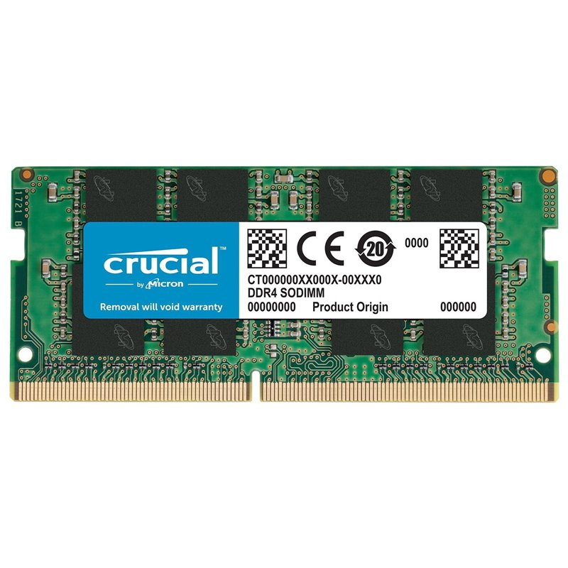 Memoria Ddr4 8gb Crucial / Sodimm / 3200 Mhz / Pc4 21300 Cl22 0.0