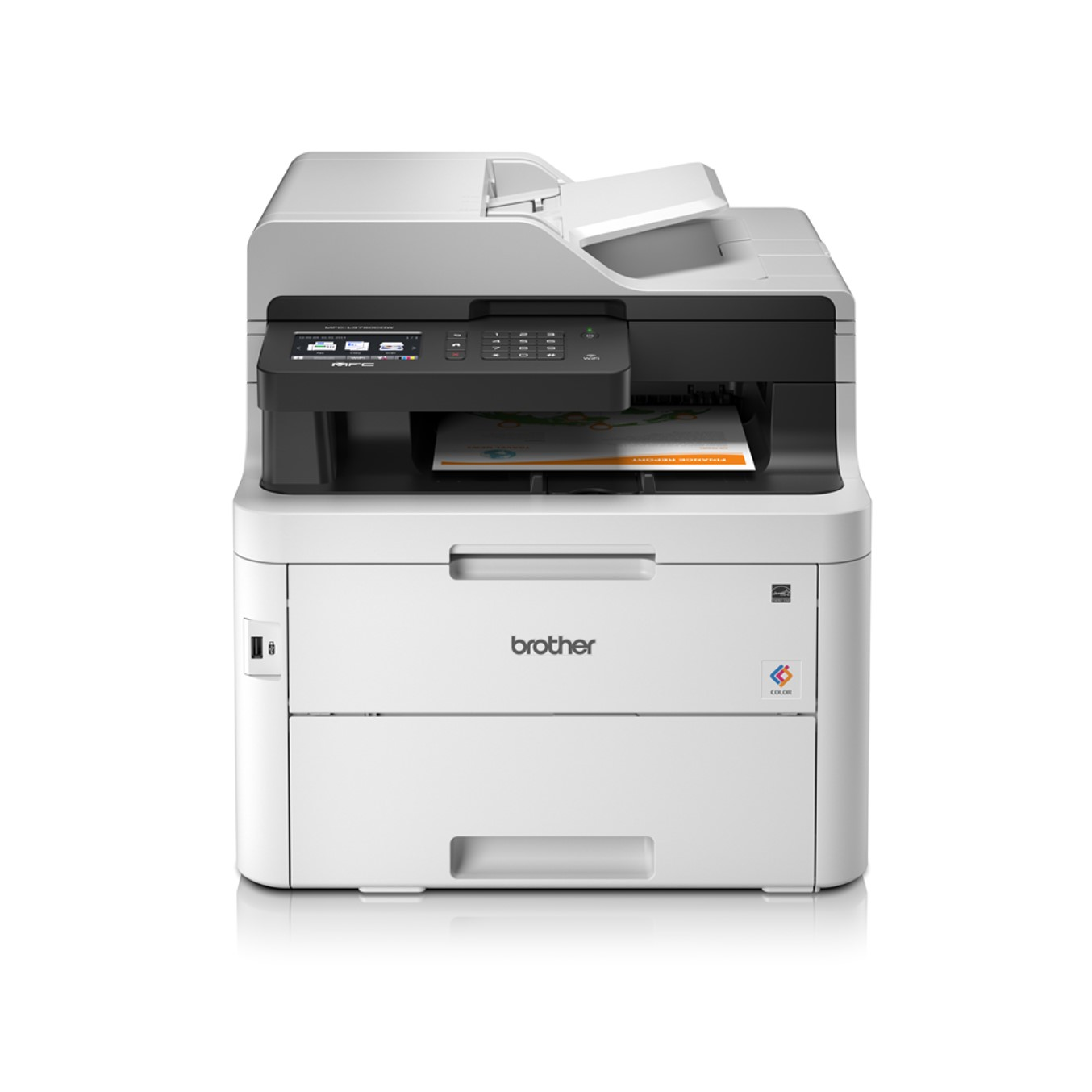 Multifuncion Brother Laser Color Mfc-l3750cdw Fax/ A4/ 24ppm/ 512mb/ Usb/ Red/ Wifi/ Wifi Direct/ Duplex Impresion/ Conectividad Movil/ Adf 50 Hojas 0.0