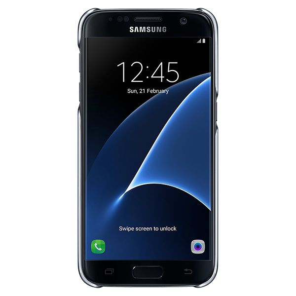 Samsung Clear Cover 5.1 Protectora Negro
