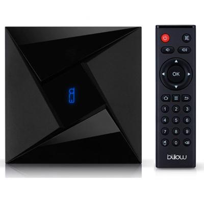 ANDROID TV BILLOW BOX OCTA CORE 2GHZ, 3GB DDR3, 32GB, 4K, WIFI DUALBAND, HDMI,  BLUETOOTH 4.1, MICROSD, DLNA, 2XUSB2.0  ANDROID 7.1