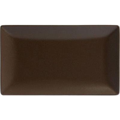 BANDEJA RECTANGULAR CHOCOLATE 20X13X2CM ELITE