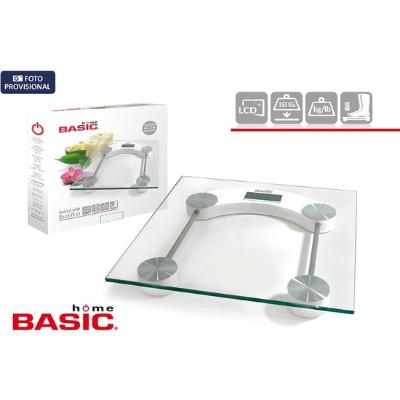 BASCULA BAÑO DIGITAL 150KG RECTANGULAR BASIC HOME