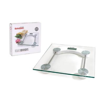 BáSCULA DIGITAL DE BAñO BASIC HOME CRISTAL (150 K)