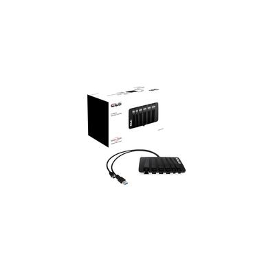 CLUB3D SENSEVISION USB3.0 Y-CABLED DOCKING STATION, DOCKING, CORRIENTE ALTERNA, USB 3.0 (3.1 GEN 1) TYPE-A + MINI DISPLAYPORT 1.2, FULLY FEATURED MULTISTREAMTRANSPORT (MST) FUNCTIONALITY FOR THE 2 MINI DP OUTPUTS., NEGRO, GRIS, USB TYPE-A ACCESORIOS DE PORTÁTILES