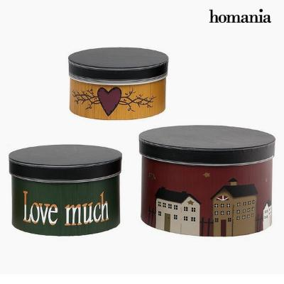 CAJA DECORATIVA HOMANIA 2687 (3 PCS) REDONDA