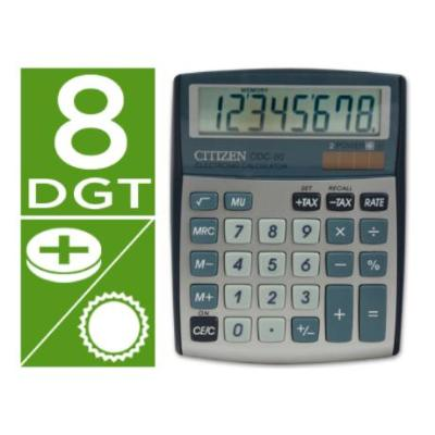 CALCULADORA CITIZEN SOBREMESA CDC-80 8 DIGITOS PLATA CALCULADORAS